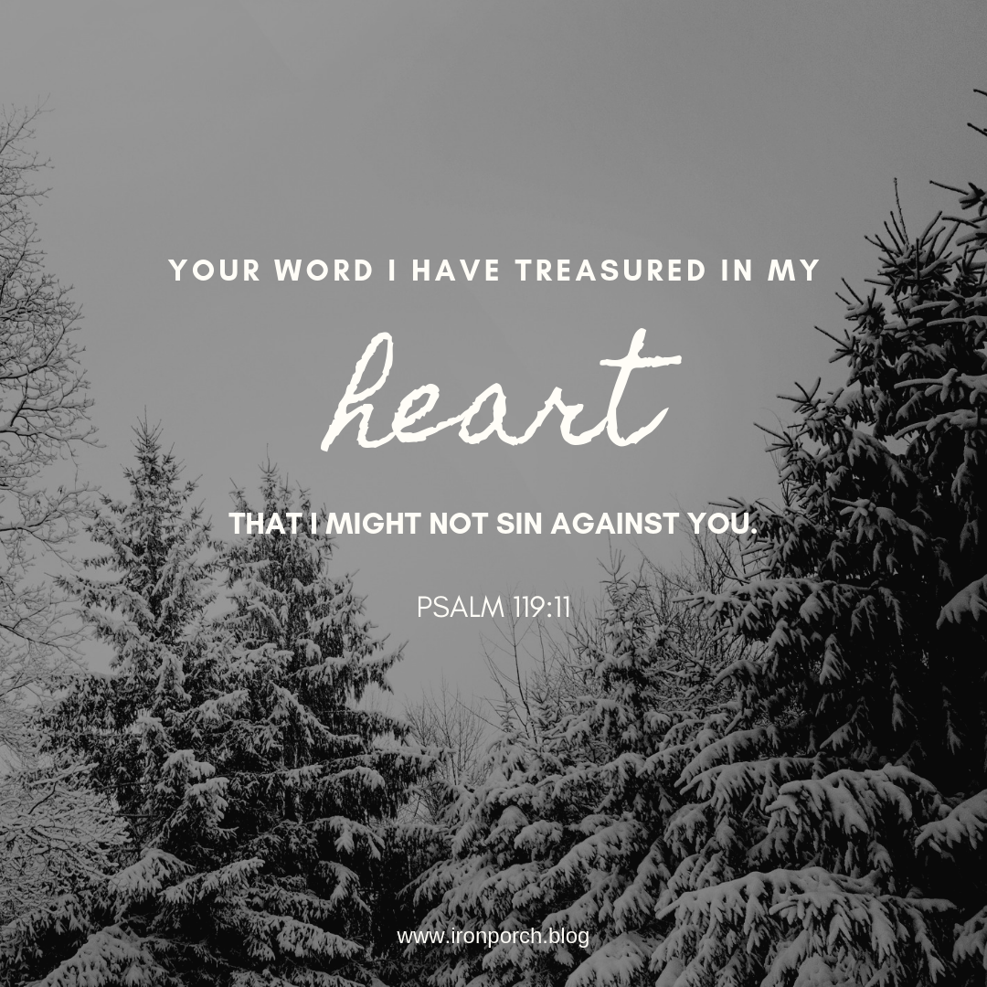 Your word I have treasured in my