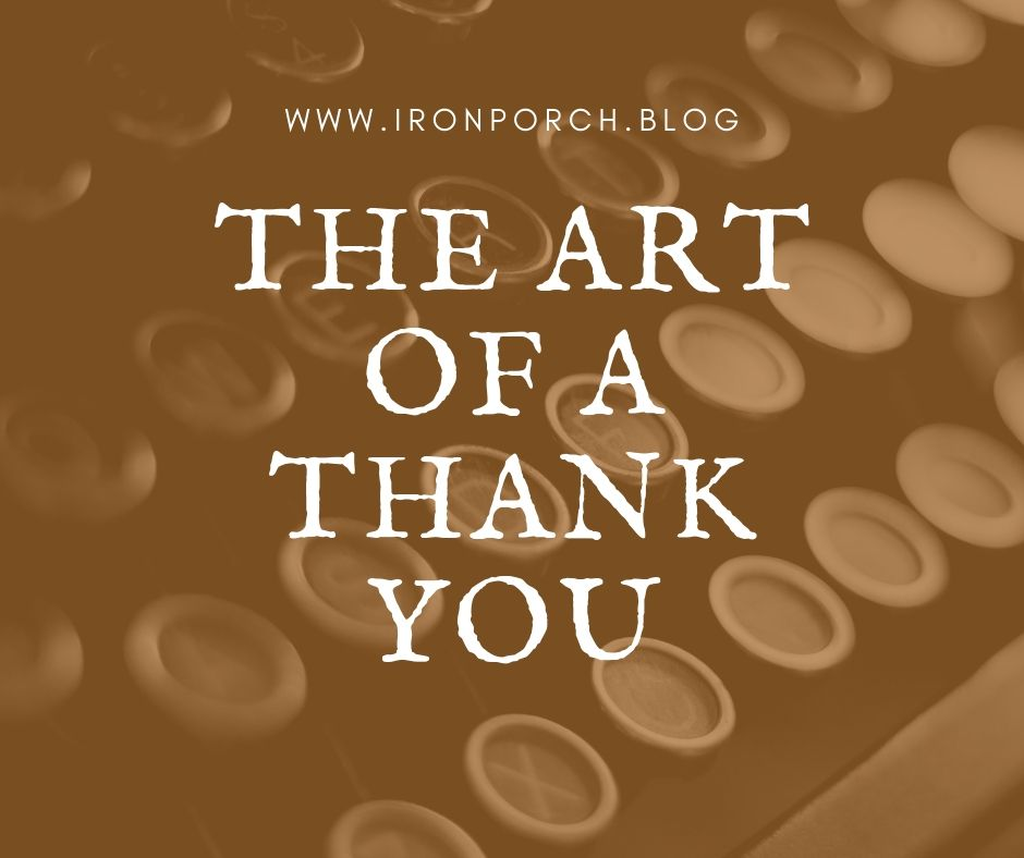 The Art of a Thank You